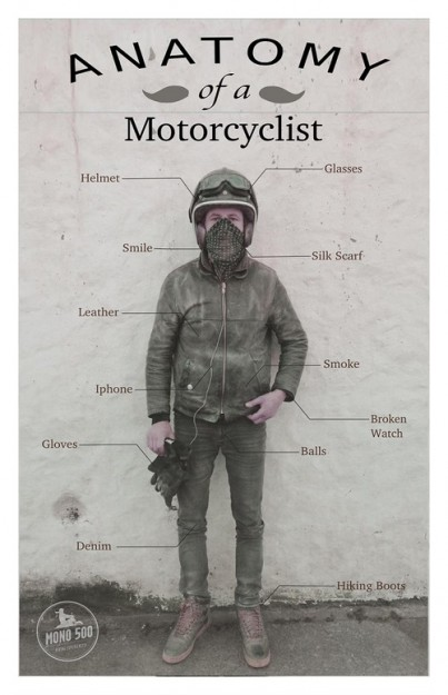 anatomy of motorcyclist